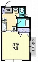 香川県高松市西宝町1丁目の賃貸マンションの間取り