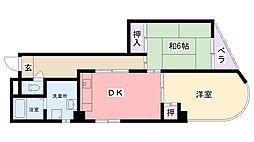 PUREHOUSE中島I[301号室]の間取り