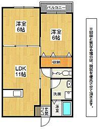 キミヱひびきのレジデンス[2階]の間取り