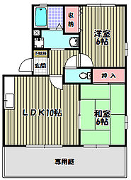 西井ハイツ[1階]の間取り