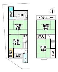 京福電気鉄道嵐山本線 帷子ノ辻駅 徒歩7分 4Kの間取り