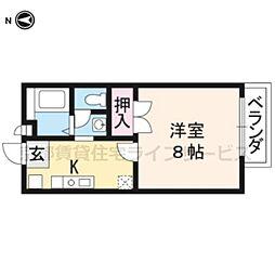 京都府京都市南区上鳥羽唐戸町の賃貸アパートの間取り