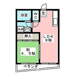 シャトレーン[3階]の間取り