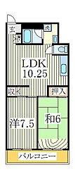 日新柏マンション[3階]の間取り