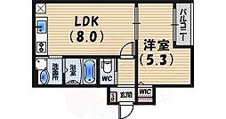 CRASTINE西宮 3階1LDKの間取り