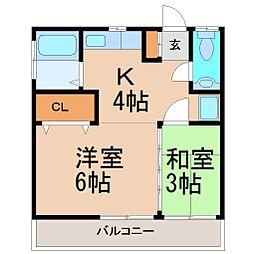 大東荘[2階]の間取り