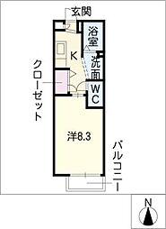 フレグランス新掘[2階]の間取り