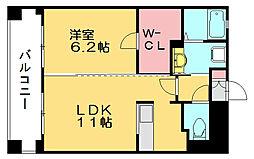 パークサイドスクエアII[6階]の間取り