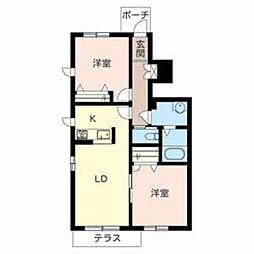 シャーメゾンHANA[1階]の間取り