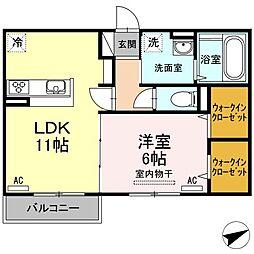 サンフラワー藍住[2階]の間取り