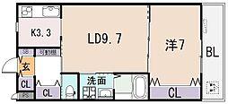 LALLA PALLOOZA[2階]の間取り