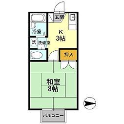 ワンズ18 A棟[206号室]の間取り