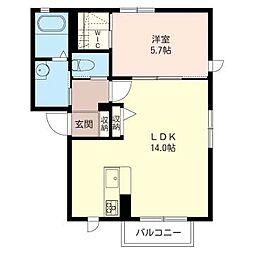 プリマベーラD[1階]の間取り