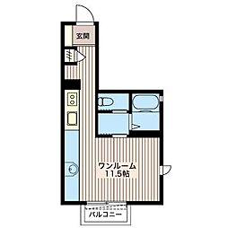 メビュースタウンVI A[2階]の間取り