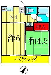 ジュネパレス松戸第113[1階]の間取り