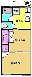 グリーンハイムA[2階]の間取り