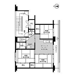 ビレッジハウス船木II1号棟[103号室]の間取り