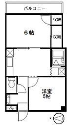 クレッセントハイム[3階]の間取り