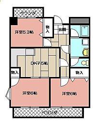 グリーンヒル・ユー[3階]の間取り
