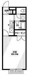 埼玉県さいたま市浦和区本太2丁目の賃貸アパートの間取り