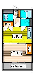 エクセル伸栄[1階]の間取り