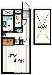埼玉県さいたま市浦和区領家4の賃貸アパートの間取り