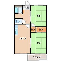 タウニィ井口[2階]の間取り