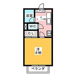 アンクラージェ小松島[2階]の間取り
