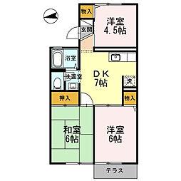 泉区上飯田町 クオーレ中屋敷 103[1階]の間取り