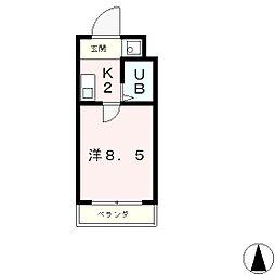 ヒューマスタ39[2階]の間取り