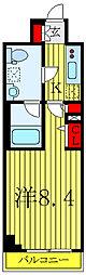 JR山手線 巣鴨駅 徒歩10分の賃貸マンション 4階1Kの間取り
