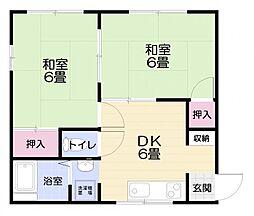 メゾン原田[202号室]の間取り