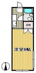 恵優コーポ[201号室]の間取り