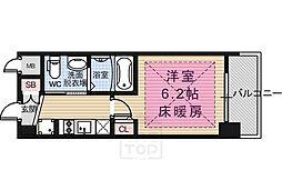 京都府京都市南区西九条蔵王町の賃貸マンションの間取り