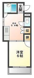 愛知県日進市浅田平子2丁目の賃貸マンションの間取り
