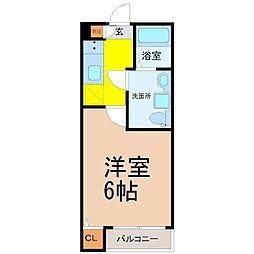 プラージュ柴田[3階]の間取り