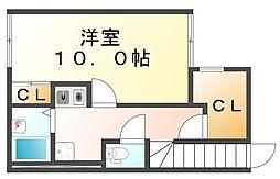 香川県坂出市中央町の賃貸アパートの間取り