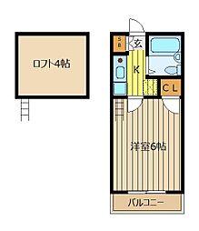 メープルMH6[205号室]の間取り