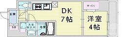 Osaka Metro御堂筋線 梅田駅 徒歩18分の賃貸マンション 10階1LDKの間取り