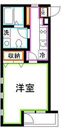 JR中央本線 吉祥寺駅 バス14分 新川通り下車 徒歩1分の賃貸マンション 3階1Kの間取り