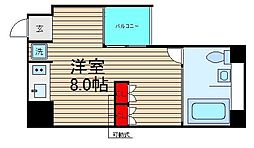 スタジオアパートメントWK[9階]の間取り