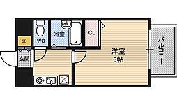 新大阪アネックス土井マンションB棟[3階]の間取り