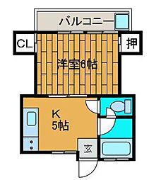 コーポプロッサム[2階]の間取り