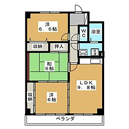 グリシーナ21[2階]の間取り