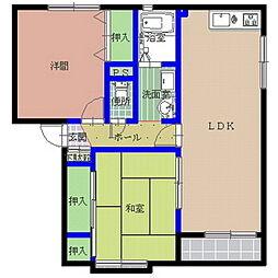 グレースコートA棟[2階]の間取り