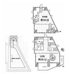 JR山手線 恵比寿駅 徒歩9分の賃貸マンション 7階1LDKの間取り