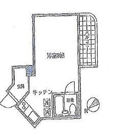 三田ハウス[4F号室]の間取り