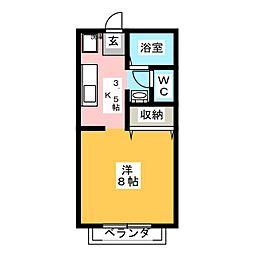 ルピナス21 C棟[2階]の間取り