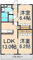 東京都足立区神明南1丁目の賃貸マンションの間取り