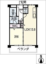 みそのマンション上善光[4階]の間取り